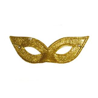 Maschera rondine glitter oro