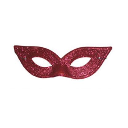 Maschera rondine glitter rossa