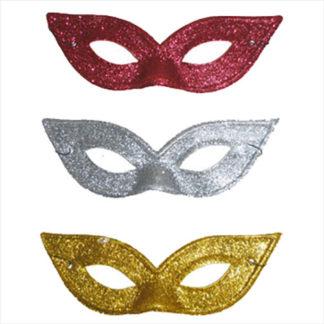 Maschera rondine pvc glitter assortite