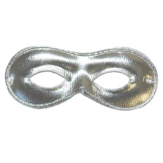 Maschera farfalla tessuto argento