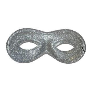 Maschera farfalla pvc glitter argento conf 12 pz.