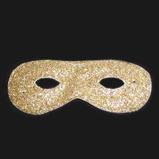 Maschera farfalla pvc glitter oro conf 12 pz.
