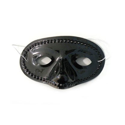 Maschera domino pvc colore nero