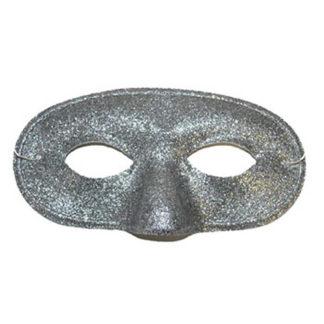 Maschera uomo glitter argento