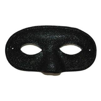 Maschera uomo glitter nera