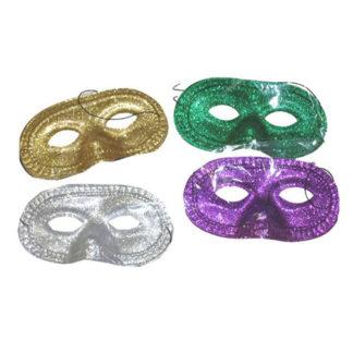 Maschera domino pvc glitter conf. 12 pz.