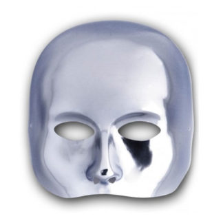 Maschera mezzo viso argento