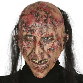 Maschera Zombie con capelli