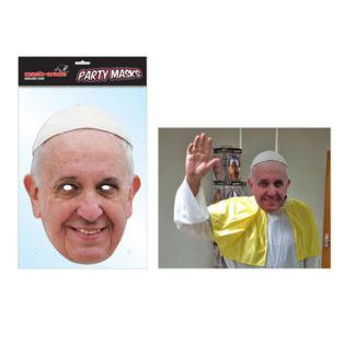 Maschera Papa Francesco in cartoncino