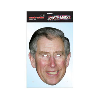 Maschera British Principe Carlo in cartoncino