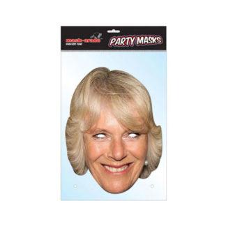 Maschera British Camilla Parker Bowles in cartoncino