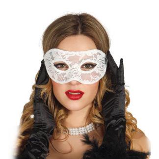 Maschera in pizzo bianca
