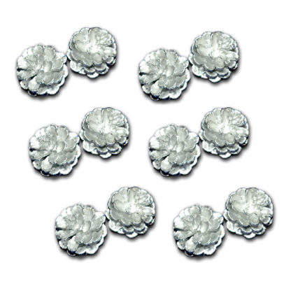 Pigne argento confezione 12 pezzi