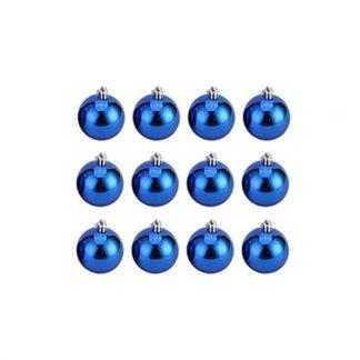 Palline natalizie blu mm 30 set 12 pezzi