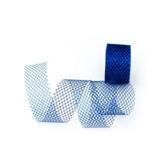 Nastro rete metallizzato blu mt 10