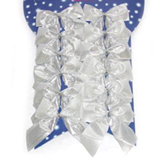 Set 12 fiocchi argento cm 6