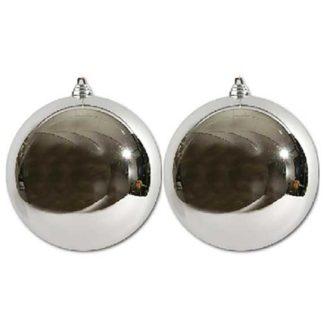 Pallina di Natale argento mm 150 conf. 2 pezzi