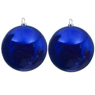 Pallina di Natale blu mm 150 conf. 2 pezzi
