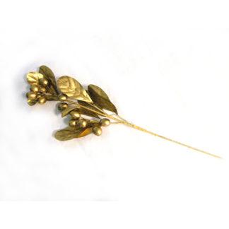 Ramo con bacche e foglie dorate cm 48