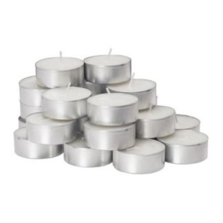 Tea candles bianche conf. 25 pezzi