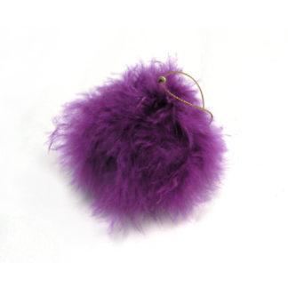 Pallina con piume di Marabù viola mm. 100