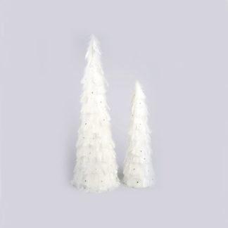 Alberini a cono con piume set 2 pezzi