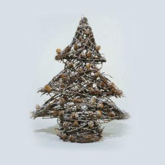 Alberino di Natale in rattan cm. 33