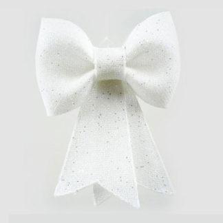 Fiocco juta bianco con glitter cm 30