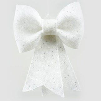 Fiocco juta bianco con glitter cm 42