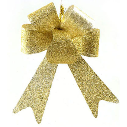 Fiocco glitterato oro cm 45