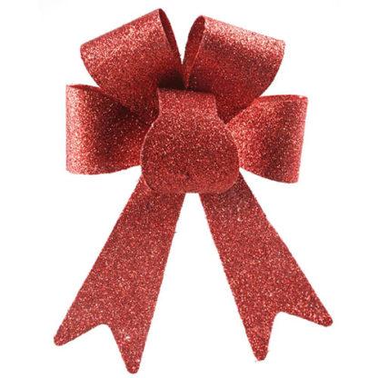 Fiocco glitterato rosso cm 45