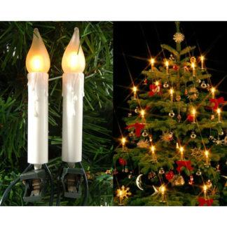 Candele 16 luci led con clip per Albero di Natale mt 6