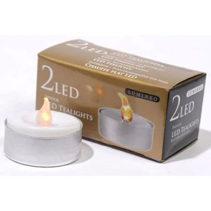 Candeline tea light a LED set 2 pezzi