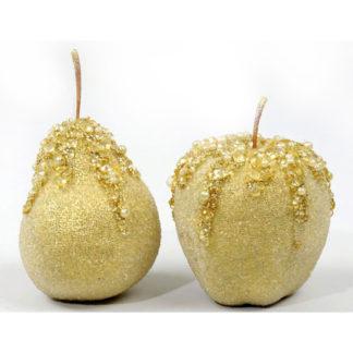 Frutta oro ghiacciata cm 7