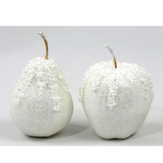 Frutta argento ghiacciata cm 7
