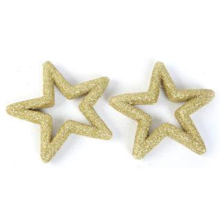 Stelle glitterate oro cm 10 set 2 pezzi