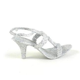 Scarpetta Glitter argento cm 11