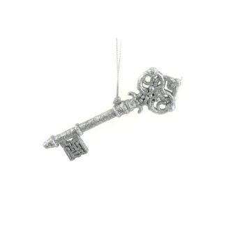 Chiave glitterata argento cm 14,5