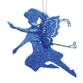 Fatina blu glitterata cm 37