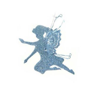 Fatina azzurra glitterata cm 13,5