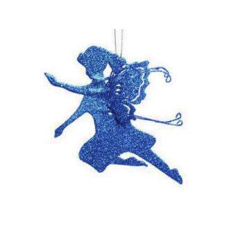 Fatina glitterata blu cm 13,5