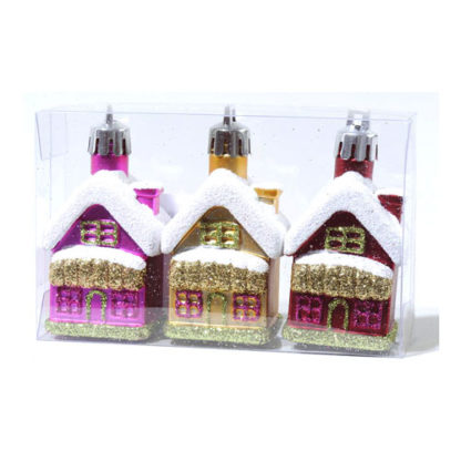 Casette glitterate multicolore set 3 pezzi cm 7