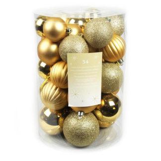 Box 34 palline di Natale oro