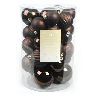 Box 34 palline di Natale dark chocolate