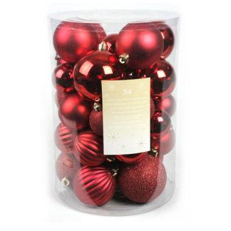 Box 34 palline di Natale rosse