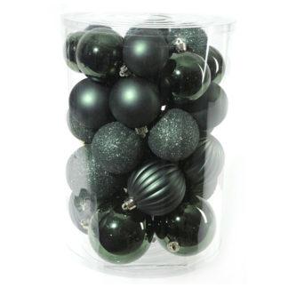 Box 34 palline di Natale verde bosco