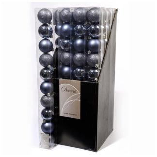 Box 10 palline di Natale Blu mm 60