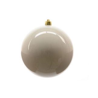 Palla di Natale mm 140 Bianco Lana