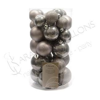 Box palline natalizie grigie nk221-bigger