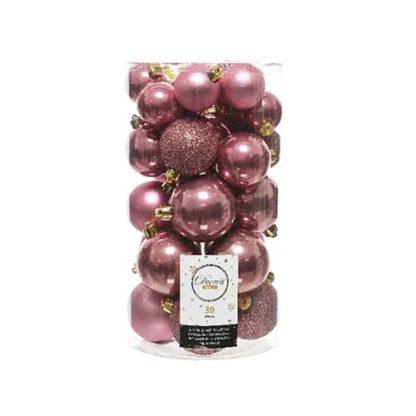 Box 30 Palline di Natale Pink